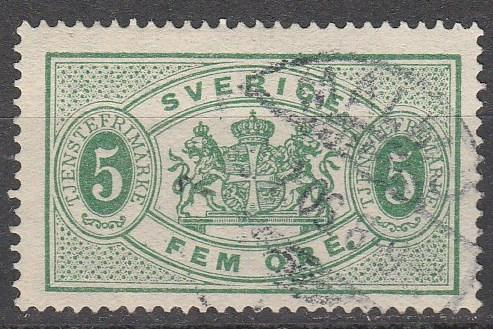 Sweden #O3  F-VF Used CV $52.50  (A13489)