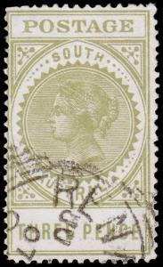 South Australia Scott 121a (1902) Used F-VF, CV $32.75 M