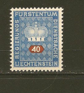 Liechtenstein O41 Official MNG