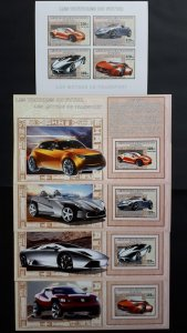 Cars of the future - Congo 2006 - sheet + complete set of 4 ss imperf ** MNH