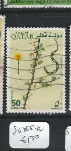 QATAR (PP2403B)  FLOWERS    SG  855-7      VFU