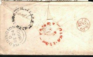 GB Scotland Cover Haddington Caponflat Contents CEYLON Kandy Maritime 1860 LS149