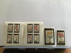 Staffa Scotland plant flowers Watsonia mint never hinged stamps  R25298