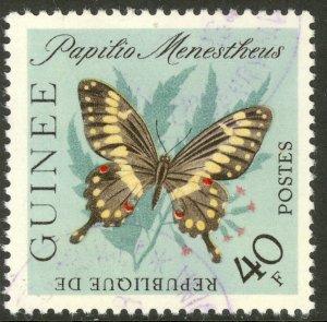 GUINEA 1963 40fr BUTTERFLY Issue Sc 302 VFU