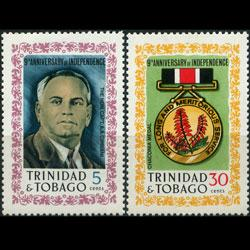 TRINIDAD & TOBACO 1971 - Scott# 201-2 Indep. Set of 2 NH