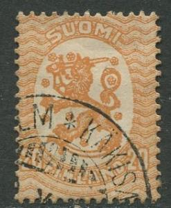 Finland - Scott 88 - Arms of Republic -1917- Used - Single 20p Stamp