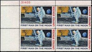 US #C76 10¢ MOON LANDING MNH UL PLATE BLOCK #31405 DURLAND $1.25