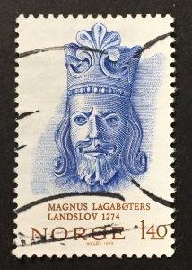 Norway 1974  #636, King Magnus VI, Used.