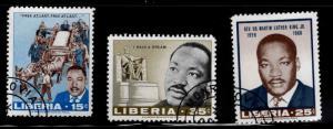 LIBERIA Scott 480-482 Used MLK stamp set