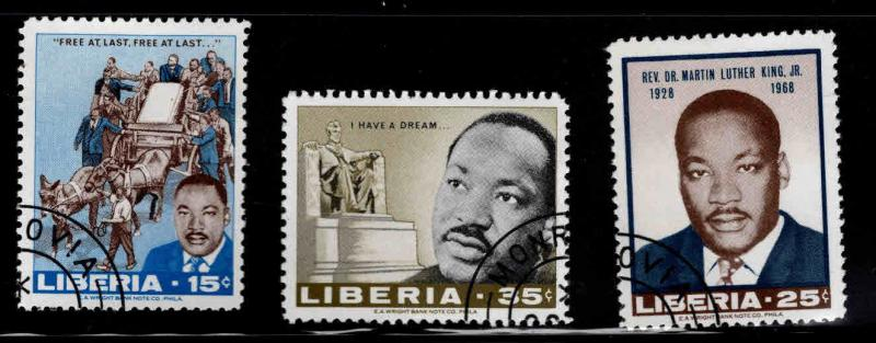 LIBERIA Scott 480-482 Used MLK stamp set