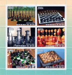Benin 2003 Chess Shlt (6) Perf.MNH VF