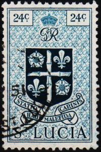 St.Lucia. 1949 24c S.G.155 Fine Used