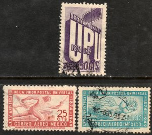 MEXICO 872,C203-04, 75th Anniv of UPU. Cplt. set. Used VF. (637)