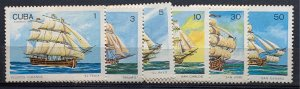 CUBA SC# 3143-3148 WARSHIPS Set of 6 1989 Mint NH