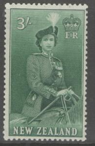 NEW ZEALAND SG734 1954 3/= BLUISH-GREEN MNH