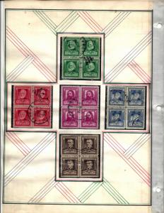 859-893 Mint and Used... Blocks of 4... (2) Complete Sets... SCV $196.60
