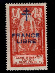 FRENCH INDIA  Scott 162 MH* France Libre  Brahma overprint