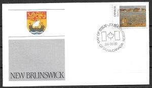 1984 Canada 1016  Canada Day: New Brunswick FDC