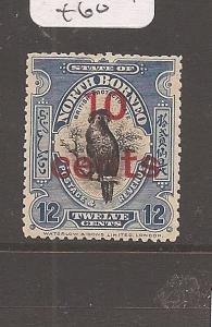 North Borneo 10c/12c Bird SG 188 MOG (10atn)