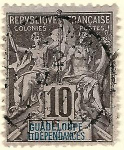 Guadeloupe SC #32 French Colony F-VF Used hr.....Make me an Offer!