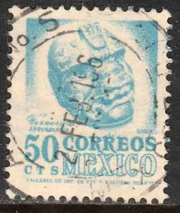 MEXICO 881, 50¢ 1950 Definitive 2nd Printing wmk 300. USED. F-VF. (1408)