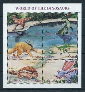 [106428] Liberia 1999 Prehistoric animals dinosaurs Ankylosaurus  MNH