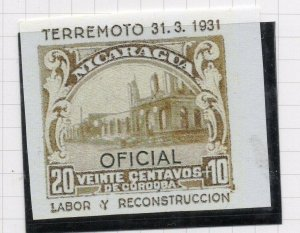 Nicaragua 1931 PROOF Issue Fine Mint Hinged 20c. Optd Official NW-14287