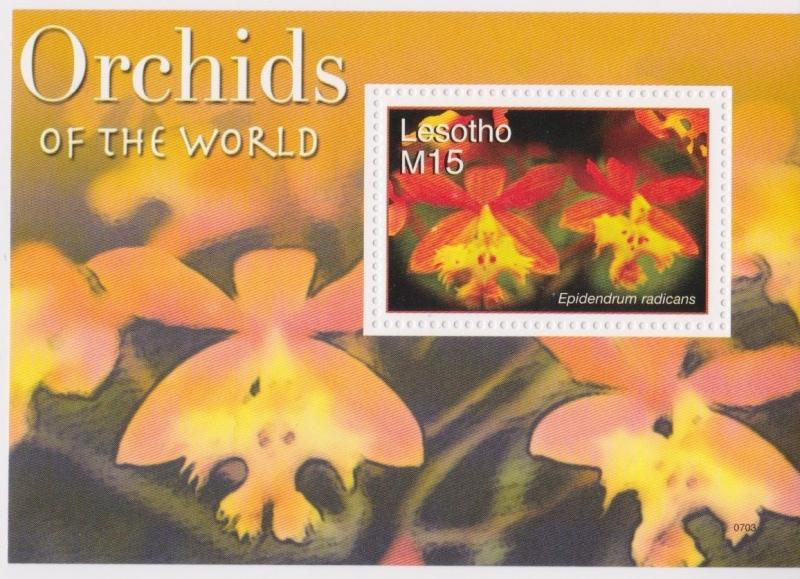 Lesotho - Orchids of the World, 2007 - Sc 1420 S/S MNH
