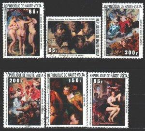 Upper Volta. 1977. 690-95. Rubens, painting. USED.