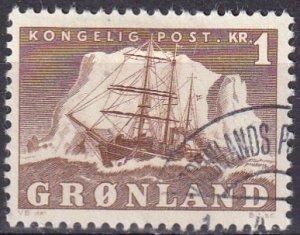 Greenland #36 F-VF Used CV $3.25