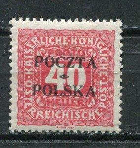 Poland/Austria 1919 Postage due Stamps  Overprint POCZTA POLSKASc J7 MH p1353s
