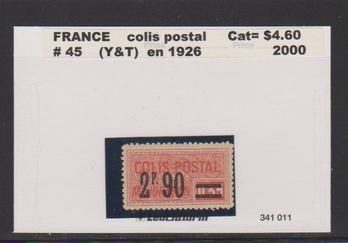 FRANCE #45 STAMP USED LOT#F25