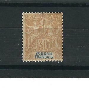 French Sudan 14 MLH. Fine 1892 SCV $40.00