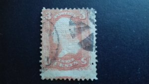 United States 1867 George Washington - With Grill Used