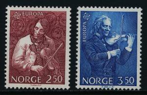 Norway 861-2 MNH EUROPA, Torgeir Augundsson, Ole Bull, Music, Composer
