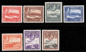 Antigua 1938 KGVI p/set (7v.) mint CV £24.75