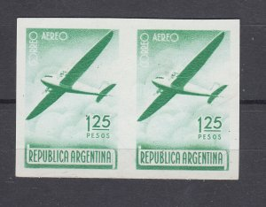 J28557 1940 argentina mnh #c41 printed both sides airplane 2 scans