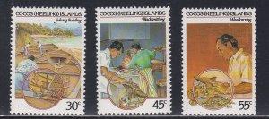 Cocos Islands # 126-128, Crafts, NH, 1/2 Cat.
