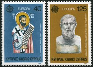 Cyprus 533-4 St Barnabas Patron Saint - Zeno of Citium - Europa CEPT 1980 MNH