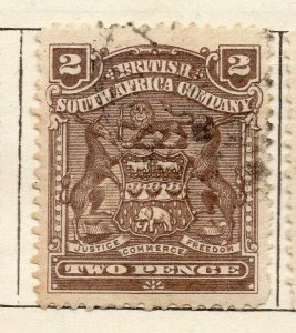 Rhodesia 1898 Early Issue Fine Used 2d. NW-11480