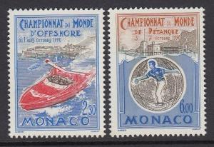 Monaco 1734-5 Power Boating mnh