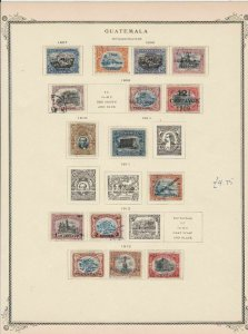 guatemala stamps page ref 17202