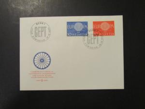 Switzerland - 5 1959 / 1960 First Day Covers LOW START!! - M168