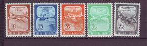 J21029 Jlstamps 1958 indonesia set mh #445-9 airplanes