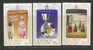 SOLOMON ISLANDS, 345-347, H, ELIZABETH