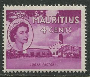 Mauritius - Scott 253 - QEII Definitives -1954 -MVLH -Single 4c Stamp