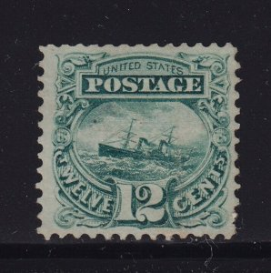 117  F-VF+ original gum mint previously hinged nice color cv $ 1900 ! see pic !