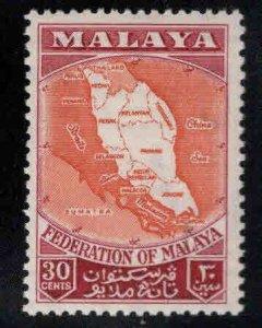 MALAYA Federation Map Scott 83 MNH** stamp