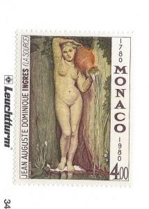 Monaco, 1229, Painting The Source By Ingres Single, **MNH**