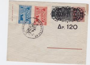 Greece 1940s slogan cancel postal stationary   stamps cover r19752